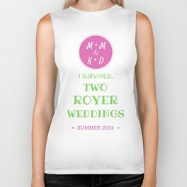 ROYER WEDDING FINAL Biker Tank