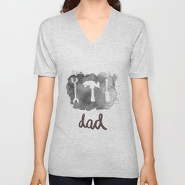 DAD TOOLS - BLACK AND WHITE Unisex V-Neck