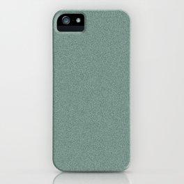 Dense Melange - White and Deep Green iPhone Case