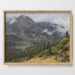 Grinnell Lake from the Trail No. 1 - Glacier NP Serving Tray