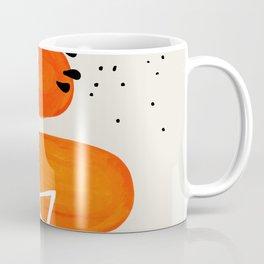 Fun Mid Century Modern Abstract Minimalist Yellow To orange Ombre Stacked Pebbles Coffee Mug