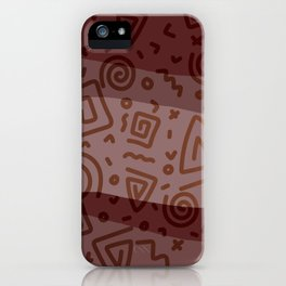 ETHNO PATTERN Modern | red iPhone Case
