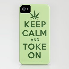 Keep Calm and Toke On iPhone (4, 4s) Slim Case
