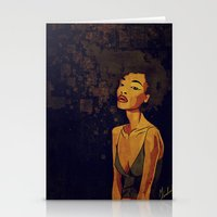 afro Stationery Cards featuring afro - Soul by Mike Koubou
