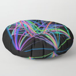 Colorful Rainbow Prism Floor Pillow