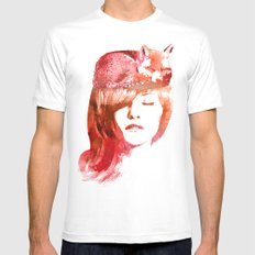 Perfect Silence White MEDIUM Mens Fitted Tee