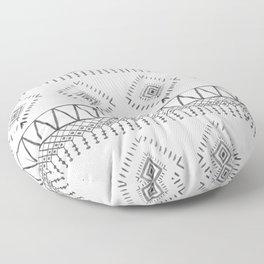 Gray Boho Aztec Floor Pillow