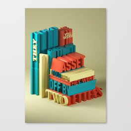 Typographic Insults #6 Canvas Print