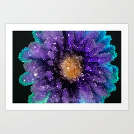 Crystalized Flowers Art Print