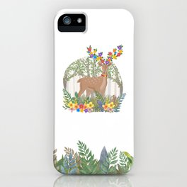 Deer in the forest. iPhone Case