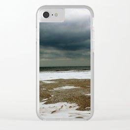 Ocean Snow Clear iPhone Case