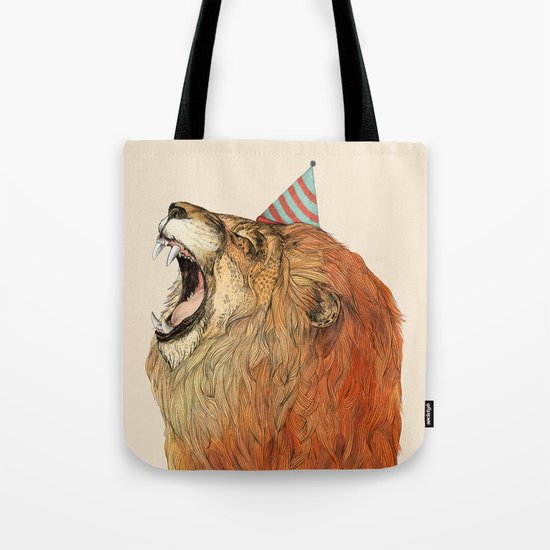 Birthday Lion Tote Bag