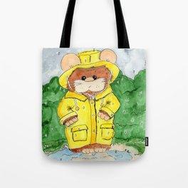 Hammy in a Raincoat Tote Bag