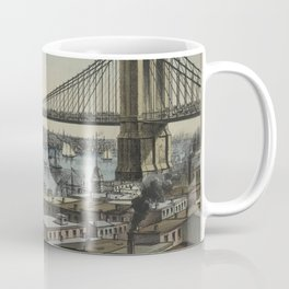 Vintage Brooklyn Bridge Illustration (1872) Coffee Mug