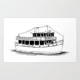 Old Ferry Boat Art Print