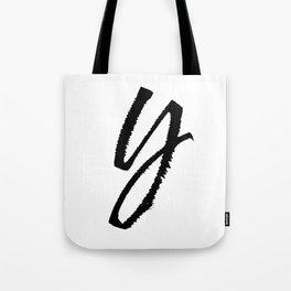 Letter Y Ink Monogram Tote Bag