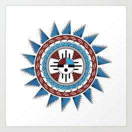 Southwest Native American Art Mandala Art Print