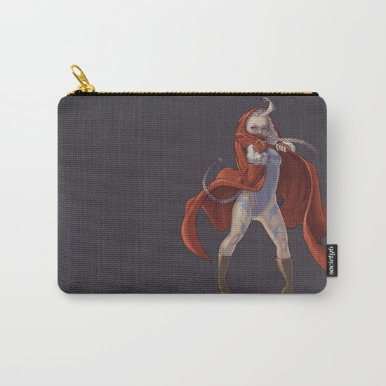 Cammy White Carry-All Pouch