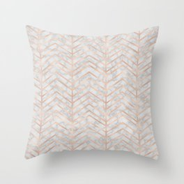 Marble With Zig Zag Throw Pillow