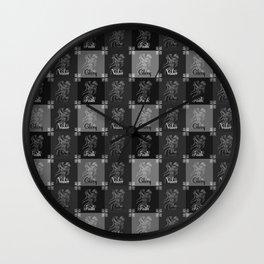 A knight's code Wall Clock