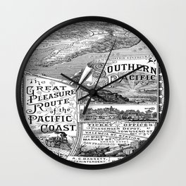 Vintage poster - Pacific Coast Wall Clock