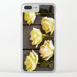 Country Yellow Roses Clear iPhone Case