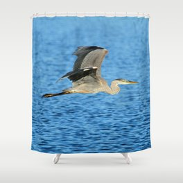 Skimming the lake Shower Curtain