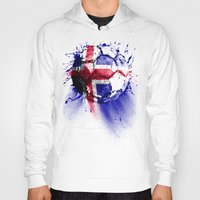 iceland Hoodies featuring football Iceland by seb mcnulty