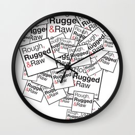 Rough, Rugged&Raw Wall Clock