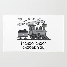 """I """"choo-choo"""" choose you! Rug"""