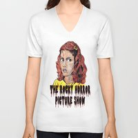 rocky horror V-neck T-shirts featuring The Rocky Horror Picture Show by AdrockHoward