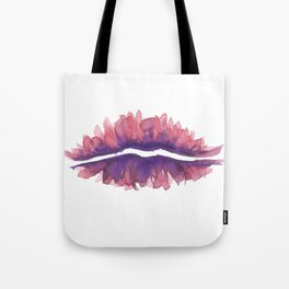 floral lips Tote Bag