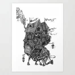 the wandering library 2 Art Print