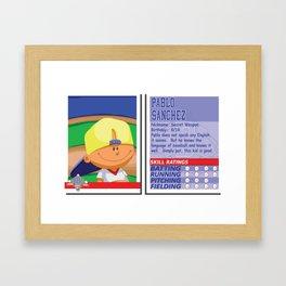 Pablo Sanchez Stat Card -Backyard Baseball Framed Art Print