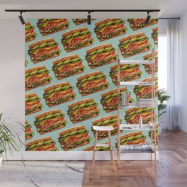 Sandwich Pattern - Turkey Wall Mural