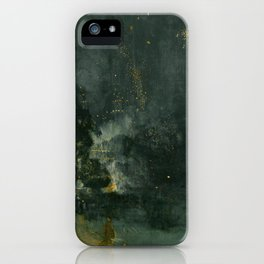 James Abbott McNeill Whistler - Nocturne in Black and Gold iPhone Case