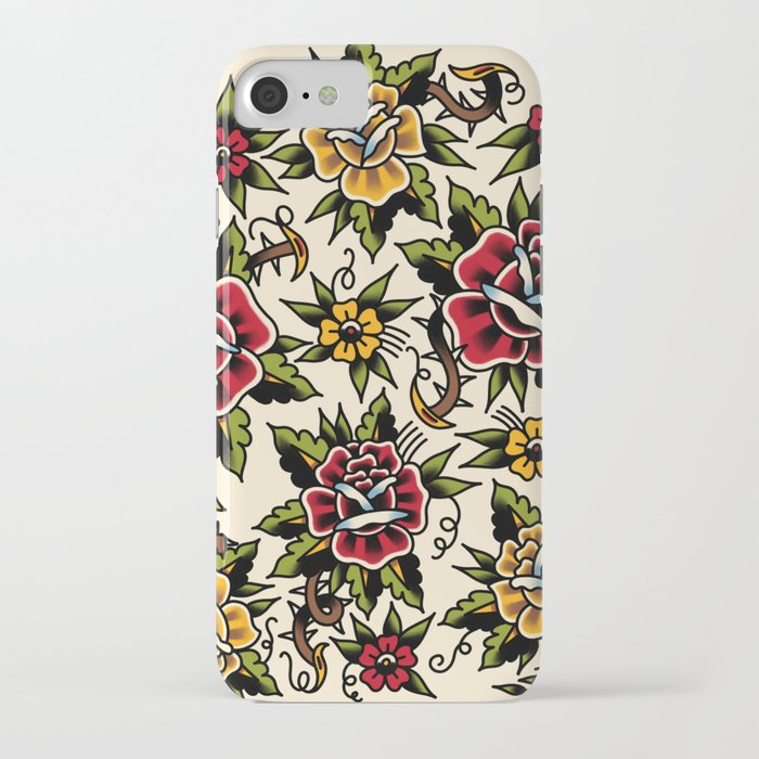 flower tattoo iphone case