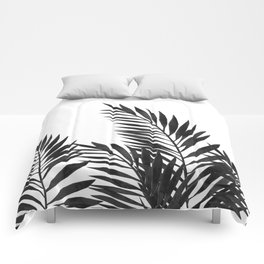 Palm Leaves Black Comforters