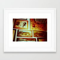 frame Framed Art Prints featuring Frame by Charlie May