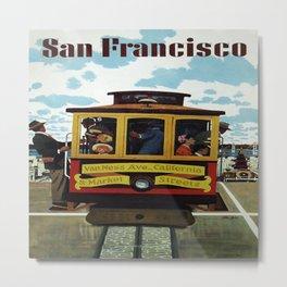 Vintage Travel Poster - San Francisco Metal Print