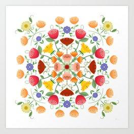 A Symphony Of Floral Delights Art Print