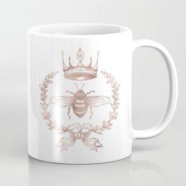Queen Bee in Rose Gold Pink Coffee Mug