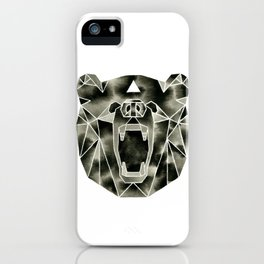Fractured Geometric Bear iPhone Case