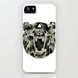 Fractured Geometric Bear iPhone Case