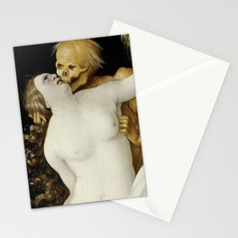 DEATH AND THE MATRON - HANS BALDUNG GRIEN Stationery Cards