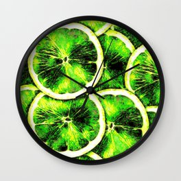 Digital Lime Wall Clock