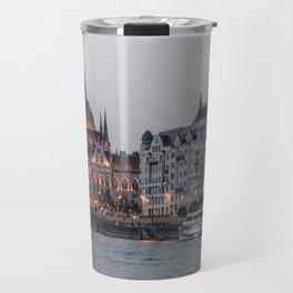 Budapest parliament by night Travel Mug