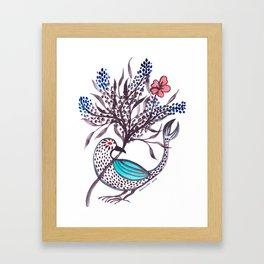 Blue-Winged Framed Art Print