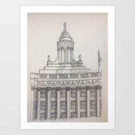 Chicago - London Guarantee Art Print