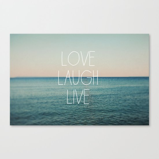 Love Laugh Live #2 Canvas Print